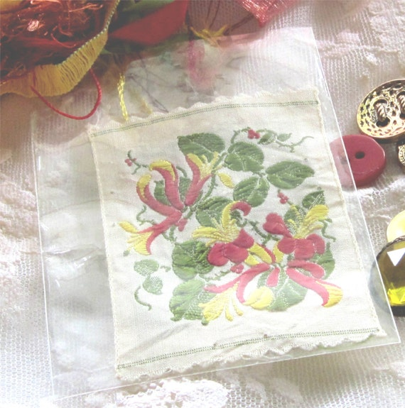Kensitas Honeysuckle Tobacco Silk and CoOrdinated Crazy Quilt Embellishment Packet Fiber Arts
