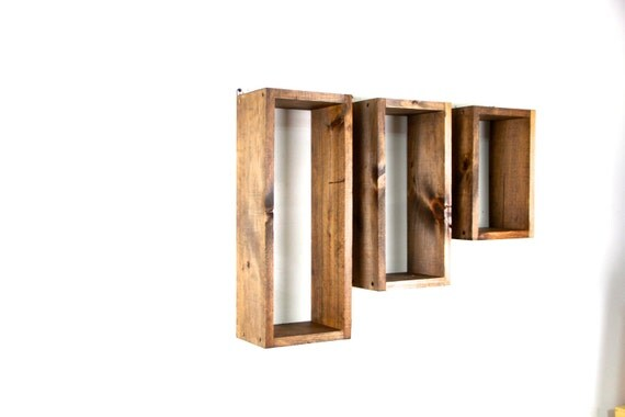 wall shelf, rustic wall shelf, distressed shelf, wall cubbies, unique shelf, wall hanging, wall storage... handmade by TangleandFold