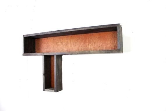 shadow box, wall shelf, rustic, distressed, shelve, shelf, hanging shelf, wall hanging, wall storage... handmade by TangleandFold