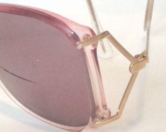 Image Collection Vintage Sugar Pink Womens Sunglasses 1970's High Fashion
