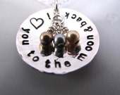 I Love You to the Moon & Back Pendant in Sterling Silver - No. 2 in the Series - Great Gift for Mom, Grandma, or Anniversary