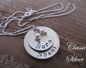 Cupped Slightly Mom's Necklace with Two or Three Names
