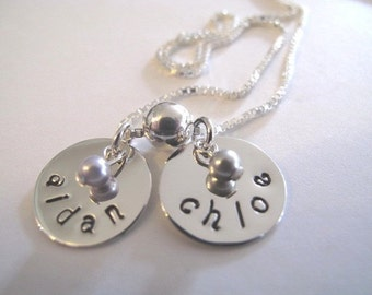 Custom 2 Name Necklace for Mom