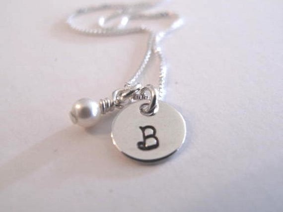 Delicate Dainty Initials in Sterling Silver
