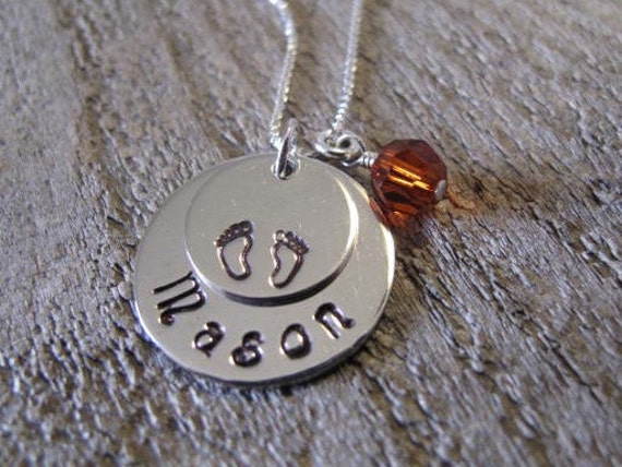 Sterling Silver New Baby Keepsake Pendant - Great Gift for Mom and Grandma