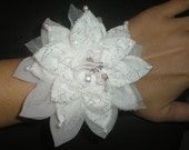 RESERVED Listing - 7 Snowflake Flower Wrist Bangles, 7 Hair Clips, 7 Pins