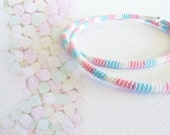 Crochet Tube Large Hoop Earrings Marshmallows