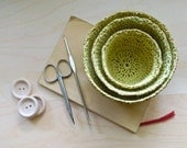 Holly Crochet Nesting Bowls in Camel and Yellow