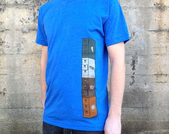 Filing Cabinets T-shirt, Men's American Apparel Heather Blue Tee