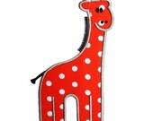 "Gilbert The Giraffe Appliques Machine Embroidery Applique Design Pattern in 5 sizes 4"", 5"", 6"", 7"" and 8"""