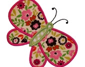 "Blissful Butterfly Appliques Machine Embroidery Designs Applique Pattern in 3 sizes 4"", 5"" and 6"""