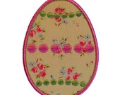 "Dotty Easter Egg Appliques Machine Embroidery Designs Applique Design Pattern in 3 sizes 3"", 4"" and 5"""
