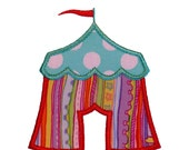 """Circus Tent Appliques Machine Embroidery Applique Design Pattern in 4 sizes 3"""", 4"""", 5"""" and 6"""""""