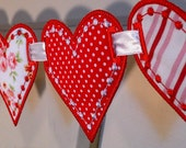 """Love Heart Banner In The Hoop Banners Machine Embroidery Designs Applique Patterns all done In-The-Hoop in 3 sizes 4"""", 5"""", 6"""""""
