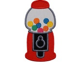 """Gumball Machine Applique Machine Embroidery Design Applique Pattern in 6 sizes 4"""", 5"""", 6"""", 7"""", 8"""" and 9"""""""