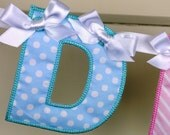 "Alphabet Banner ITH project Machine Embroidery Design Applique Pattern in 3 sizes 4"", 5"" and 6"" all done in-the-hoop."