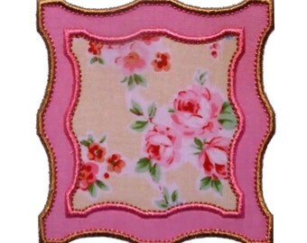 """Ornate Frame Machine Embroidery Designs Applique Pattern in 4 sizes 3"""", 4"""", 5"""" and 6"""""""