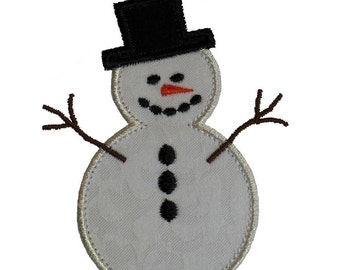 """Frosty The Snowman Appliques Machine Embroidery Designs Applique Pattern in 3 sizes 4"""", 5"""" and 6"""""""