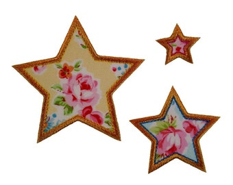 "Seeing Stars Appliques Machine Embroidery Designs Applique Patterns in 11 sizes 1"" to 6"" in half inch increments"