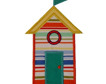 """Beach Hut Range Appliques Machine Embroidery Designs Applique Patterns 4 variations in 4 sizes 4"""", 5"""", 6"""" and 7"""""""