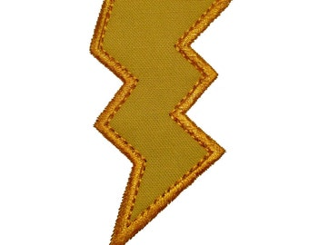 """Bolt of Lightning Applique Machine Embroidery Design Pattern in 5 sizes 3"""", 4"""", 5"""", 6"""" and 7"""""""
