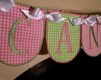 """Candy Shop Banner ITH Machine Embroidery Applique Design Pattern all done In-The-Hoop in 4 sizes 4"""", 5"""", 6"""" and 7"""""""