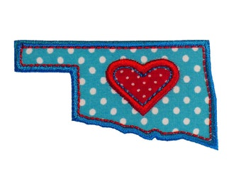 """Oklahoma Range Appliques Machine Embroidery Designs Applique Patterns 2 variations in 4 sizes 3"""", 4"""", 5"""" and 6"""""""