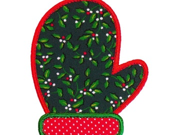 """Mitten Appliques Machine Embroidery Designs Applique Pattern in 5 sizes 3"""", 4"""", 5"""", 6"""" and 7"""""""