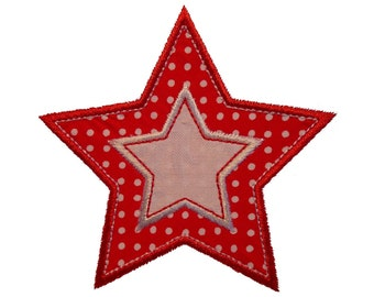 "Twinkle Twinkle Double Stars Appliques Machine Embroidery Designs Applique Patterns in 4 sizes 2"", 3"", 4"" and 5"""
