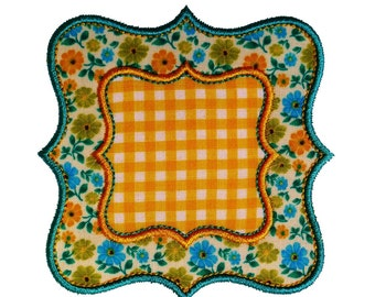 "Square Fancy Frame Appliques Machine Embroidery Designs Applique Pattern in 4 sizes 3"", 4"", 5"" and 6"""