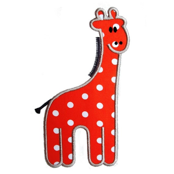 """Gilbert The Giraffe Appliques Machine Embroidery Applique Design Pattern in 5 sizes 4"""", 5"""", 6"""", 7"""" and 8"""""""