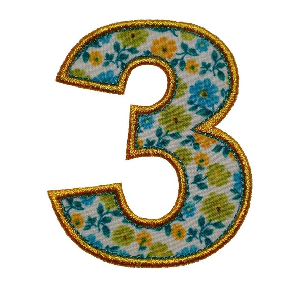 Just numbers appliques machine embroidery designs applique