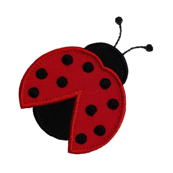 """Ladybug Beetle Appliques Machine Embroidery Designs Applique Pattern in 4 sizes 3"""", 4"""", 5"""" and 6"""""""