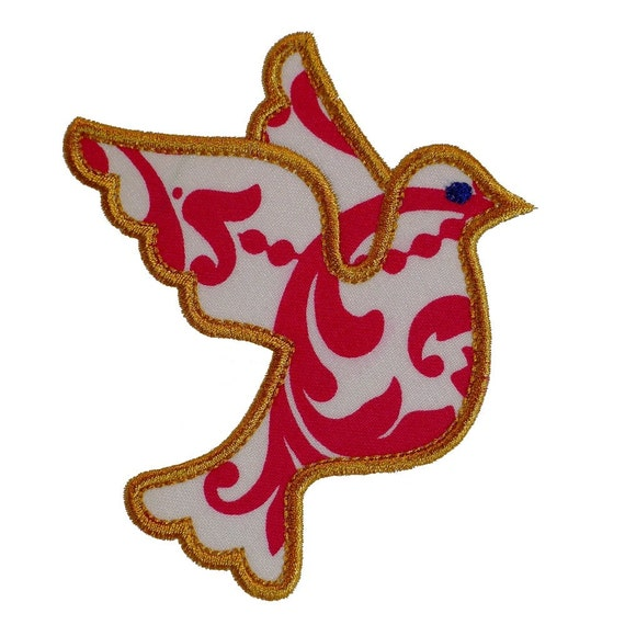 """Dove of Peace Appliques Machine Embroidery Design Applique Pattern in 4 sizes 4"""", 5"""", 6"""" and 7"""""""