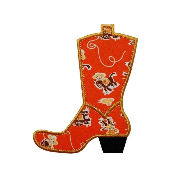 Cowboy Boot Machine Embroidery Design