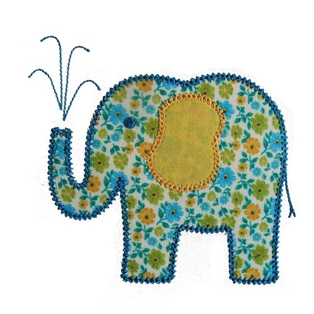 elina elephant machine embroidery applique design pattern in