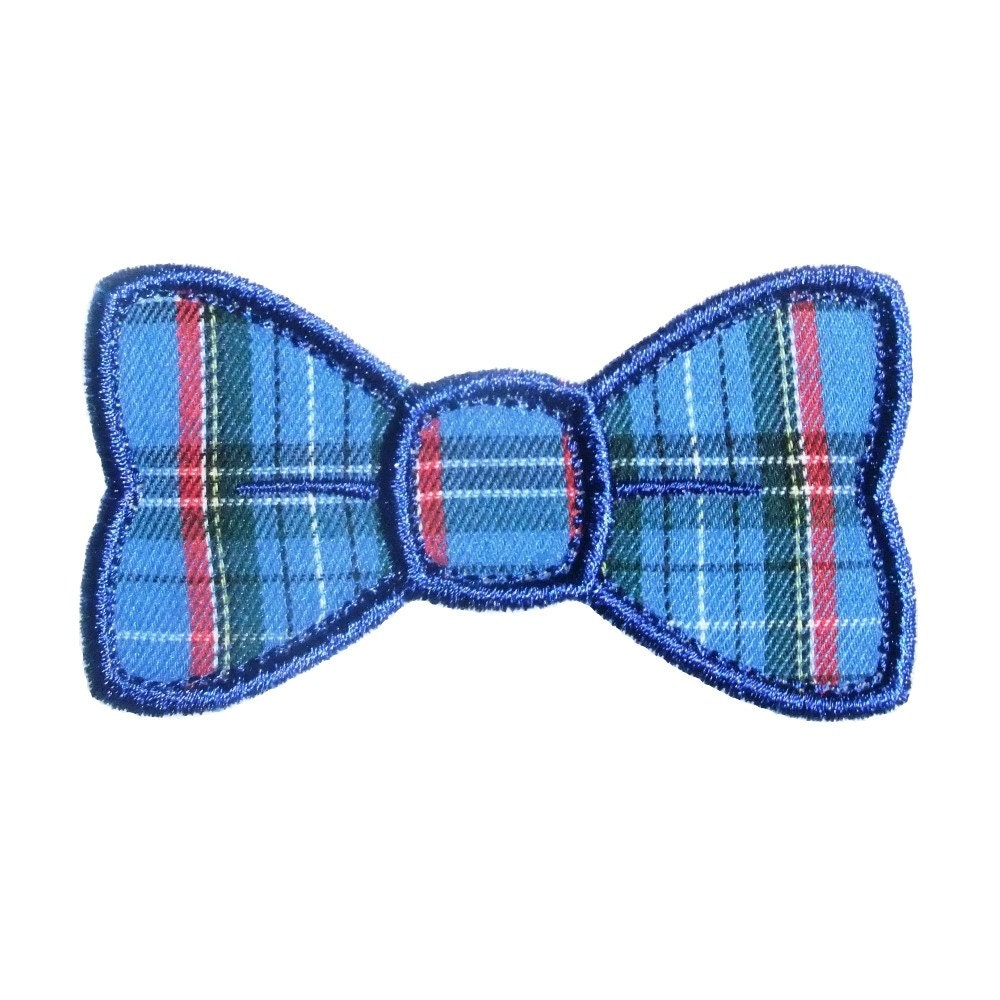 Bow tie applique machine embroidery design pattern in sizes