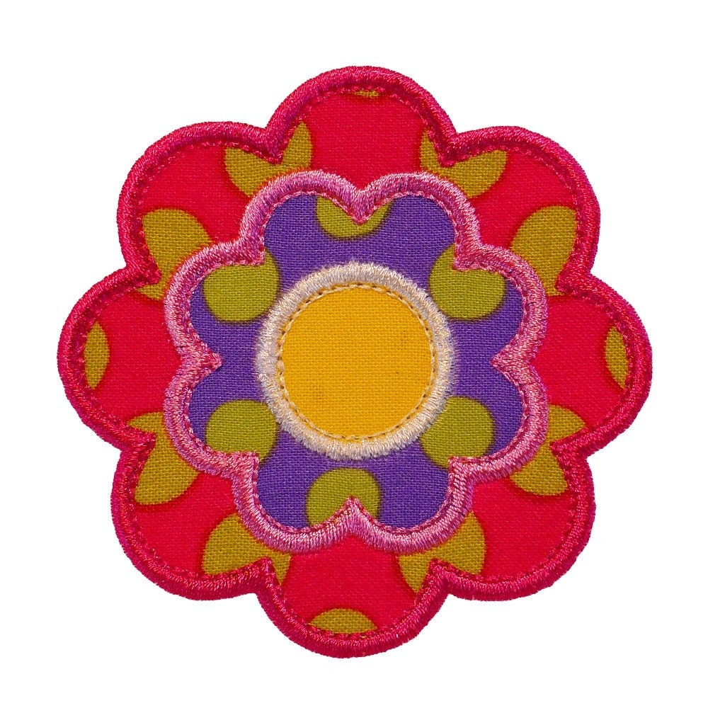 Flower power appliques machine embroidery designs applique