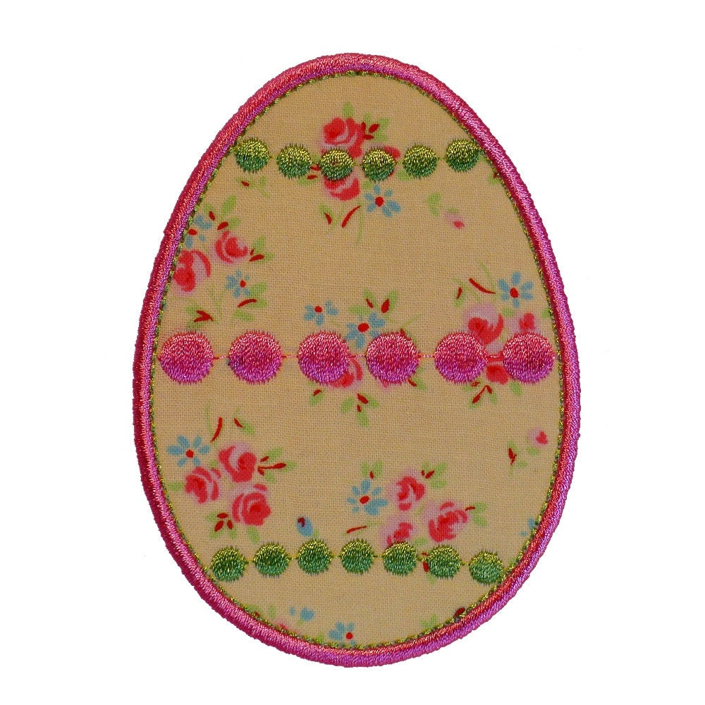 Dotty easter egg appliques machine embroidery designs applique