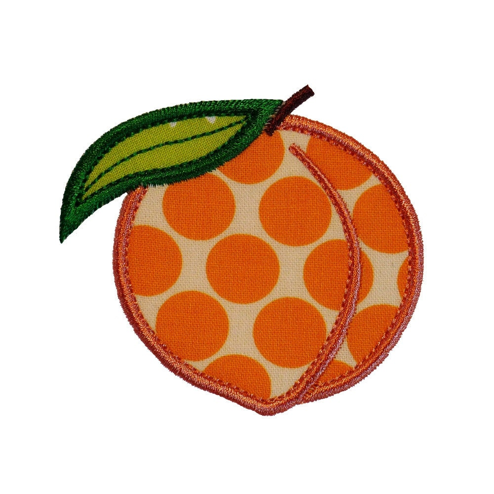 Peach appliques machine embroidery designs applique pattern in
