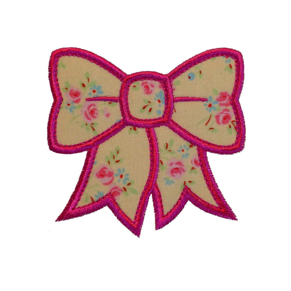 Pretty bonny bow appliques machine embroidery designs applique