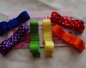 All the Colors of the Rainbow Set of 6 Tuxedo Mini Bows
