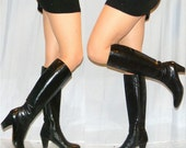 reserved for thefrenchmouse sz 5.5 designer Salvadore Ferragamo couture Italian 70s black boots