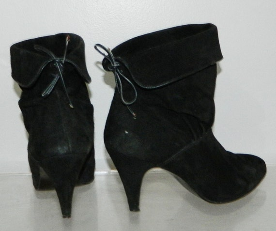 vintage 80s boots crop ankle slouch rocker boots 8