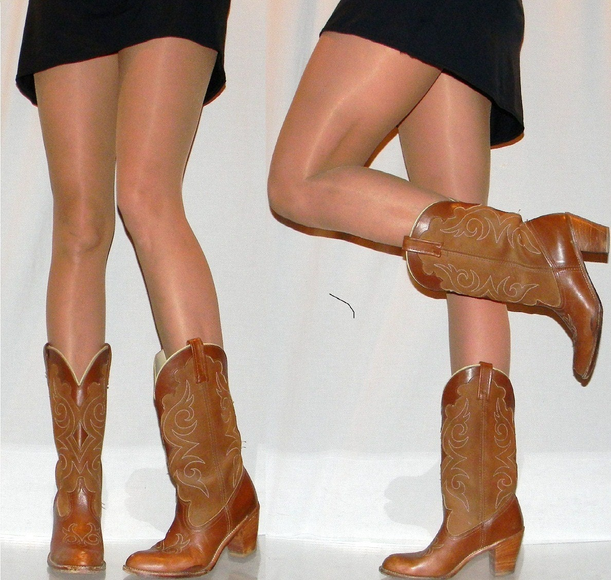 womens sz 9.5 SEXY high heel cowgirl boots