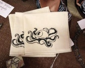 Silkscreened Octo-eye Handkerchief