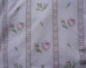 V107 Vintage Sheet Fat Quarter Dan River Pink Roses FQ
