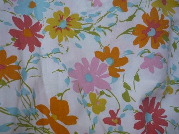 V148 Vintage Sheet Fat Quarter Bold Wildflowers FQ