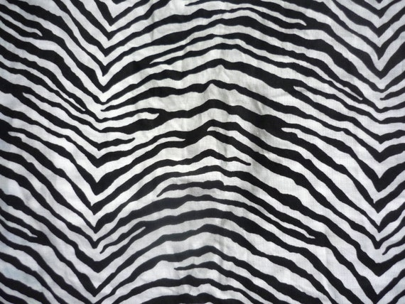 Reclaimed Sheet Fat Quarter Zebra Stripes FQ