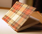 Scribbler Books: Brown and Red Plaid Coordinating Set of Two Notebooks